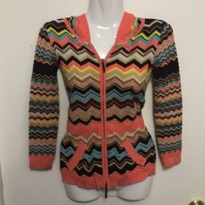 Missoni sweater with hood